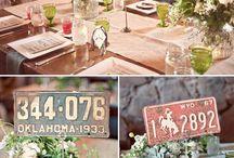 Meseros para bodas - Wedding table numbers
