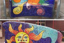 mozaiek - banken