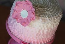 Coral Grey Cake Smash