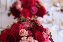 Blomster dekorasjon til bord