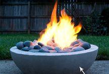 Concrete fire pits