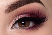 Eyeshadows Burgundy Wine Red