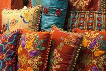 textiles and pillows