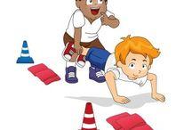 Hindernisparcours, warm up, Team Building