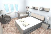 sypialnia z łóżeczkiem