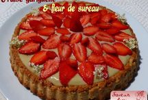 Fraise rhubarbe et cerise - Strawberry rhubarb and cherry