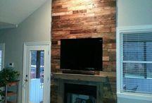 madera chimenea