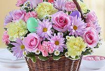 canastas flores