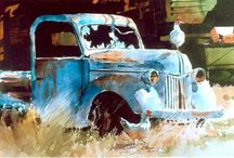 Old Trucks Art