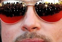 Celebrity Eyewear- Brad Pitt + Angelina / Brad Pitt and Angelina Jolie in Eyeglasses and Sunwear