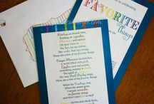 my favorite things party / by Peggy Veazey
