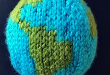 Knitted Globe / I designed my own knitted globe pattern a few years ago to celebrate my love of the planet. Pattern available on 10 October!  Knit the world, knitting pattern, knitted globe, knitted world, knit the globe.