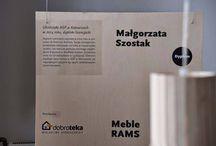 Dni Otwarte ASP Katowice / Dobroteka od początku działania ściśle współpracuje z uczelniami artystycznymi, w tym z ASP w Katowicach, gdzie właśnie trwają Dni Otwarte. Na wystawie prezentującej prace absolwentów można w tym czasie obejrzeć dwie koncepcje meblarskie, które zostały zrealizowane we współpracy z nami: dyplom licencjacki Małgorzaty Szostak oraz praca z warsztatów Dobry Tydzień Projektanta 2013 zrealizowana przez Katarzynę Pełkę i Marcina Kratera.