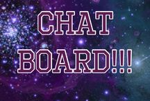 Øur Chat Board. / Comment if you want to be added! Invite whoever you want!!!! When invited please add 10+ people tysm x PLEASE NO CHAINS!!! Happy pinning :)