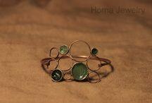 Brass and Copper Jewelry / Homa Handmade jewelry