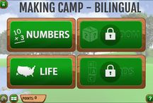 Making Camp: The Game / Whether you are teaching English language learners or want a fun app to expand your Spanish vocabulary, Making Camp Bilingual fills the bill. Packed with videos and activities, players practice multiplication and division skills while learning math problem-solving strategies. They'll also be introduced to Native American history. Get Making Camp Bilingual here: https://sites.fastspring.com/7generation/product/makingcampbilingual