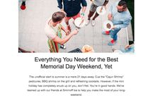 Memorial Day Email Design / Interesting trends spotted in Memorial Day emails: https://emaildesign.beefree.io/2017/05/memorial-day-email-design-trends/