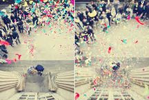 Confetti: Inspirations / Curated images of confetti toss' and sparkler exits