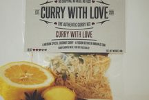 Curry with Love / Each of our mains Curry Kits include hand-blended ground spices, whole spices and onions and garlic. All you do is add liquid, and either meat, fish or vegetables. It's that easy!