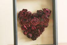 Rose Heart Sahadow box