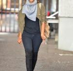 ROCHELLE HUMES Leaves Good Morning Britain Show in London