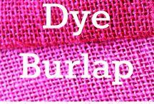Dye Burlap