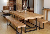 Mesas y bancas