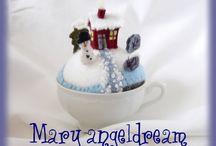 vive l'hiver / entre l'Avent et après Noël des créations ,de la neige et du bonheur