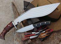 kukri and knife