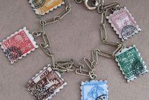 Stamps, Postcards & Letters - Vintage Charms & Bracelets