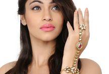 Hathpans / #Kushals #Jewellery #FashionJewellery #IndianJewellery #WeddingAccessories #Hathpan #Kundan