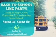 Back to School LINK PARTY / Back to School Ideas.  I'm hosting a Back to School Link Party. I would love to invite you to share any recipes or anything back to school related if you have the time. Here is the page. Sincerely, Cecelia. http://ceceliasgoodstuff.com/back-to-school-link-party