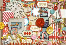 County Fair scrapbooking kits / Digital scrapbooking kits about county fairs, carnivals etc.