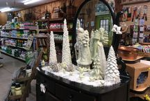 Giftware for the Christmas Holiday / Angels, Santas, Snowmen, Artificial Trees, Glass Balls, AND... The largest selection of Pine Cones!!!!