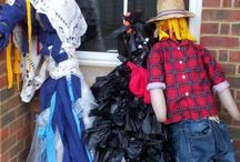 Rushall Scarecrows / some photos of the scarecrows at Rushall school