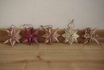 décoration de noël / Origami étoiles en papier pour sapin de noël.