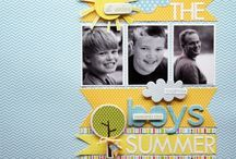 Scrapbook 'Boy' Layouts