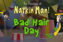 The Adventures of Napkin Man / http://www.cbc.ca/kidscbc1/shows/adventures-of-napkin-man  The  Adventures  of  Napkin  Man  Online contains  four  enhanced  interactive episodes  based  on  shows  from  Season  2  of  the  series.  Like  the  television  series the  interactive  episodes  are  designed  to  extend  the  series'  social-emotional curriculum and further help kids identify and manage their feelings,
