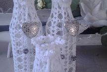 üvegek díszítése horgolva