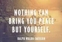 Emerson and Thoreau / Two of my favorite writers - Ralph Waldo Emerson and Henry David Thoreau. Endlessly quotable.