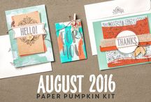 Paper Pumpkin August 2016 - Bold Botanicals / August 2016 Paper Pumpkin Kit