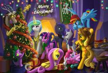 Christmas with ponies