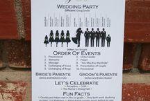 Wedding program on a stick