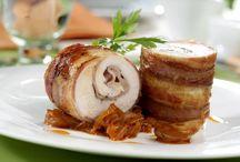 rollitos pollo y bacon