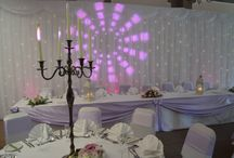 Starlight Backdrop Hire / The fairytale starlight backdrop creates a beautiful wedding day atmosphere with its twinkling lights and looks stunning placed behind the head table or used along a wall. The fairytale starlight backdrop is easily assembled using a number of extendable, lightweight poles and interlocking sections. Heavy metal base plates are used every 3 metres to secure the backdrop and ensure there is no risk of it being knocked over.