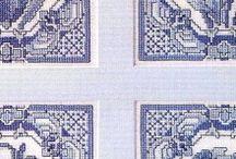 Cross stitch blue
