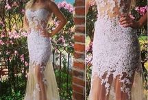 Sexy White Lace Wedding Dress