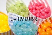Candy buffets weddings / Candy buffet ideas for weddings. Match with our candy cones available in pink, orange, green, blue/lilac and yellow to match any theme £7 for 10