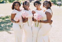 Bridesmaids & Feminine: White & Ivory / White and ivory bridesmaid dresses.  #wedding #bridesmaid #bridesmaiddress #whitebridesmaiddress #ivorybridesmaiddress