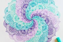 mandala's, pattern art